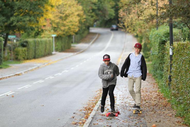 Trørød skaterdrenge